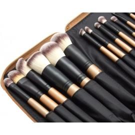 ZESTAW 15 sztuk pędzli SUNSHADE MINERALS   Makeu-Up Studio Professional w zasuwanym etui