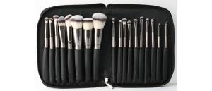 ZESTAW 18 sztuk pędzli SUNSHADE MINERALS Make-Up Studio Professional