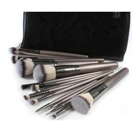 ZESTAW 15 sztuk pędzli SUNSHADE MINERALS   Makeu-Up Studio Professional