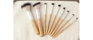 Pędzle do makijażu- zestaw 9 sztuk SUNSHADE MINERALS