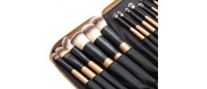 SUNSHADE MINERALS    Makeu-Up Studio Professional GOLD zestaw 15 sztuk pędzli do makijażu