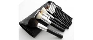 LancrOne Make-Up Studio professional zestaw 12 sztuk pędzli do makijażu