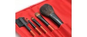 Pędzle do makijażu Lancrone - zestaw 5 sztuk w etui