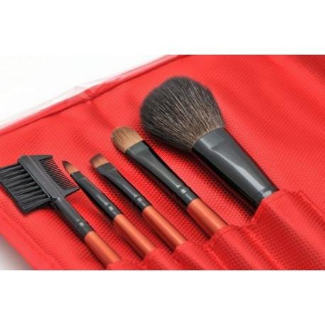 Pędzle do makijażu - zestaw 5 sztuk
