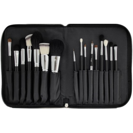 LANCRONE Make-Up Studio Professional 16 sztuk pędzli